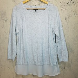 Apt 9 tunic sweater with semi sheer ruffle hem
